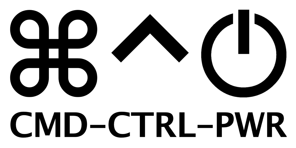 CMD CTRL PWR logo white rectangle
