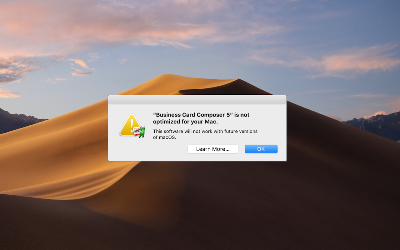 """What's with All These Dialogs Saying, """"Some App is not optimized for your Mac""""?"""
